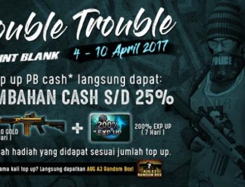 Promo Top Up PB : Double Trouble April 2017