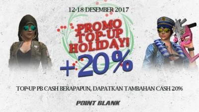 Promo TopUp holiday pointblank garena